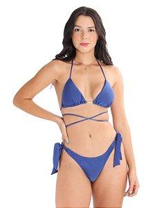 Top Triangulo Com Bojo Removível Azul Carbon