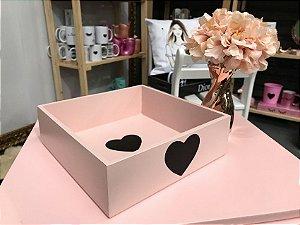 Bandeja Coração Rosa Blush