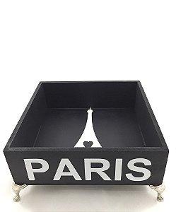 Bandeja Paris com pé de metal e Vidro