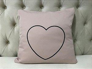 Almofada Coração Rosa Blush
