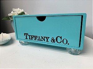 Gaveta Tiffany com pé de acrílico