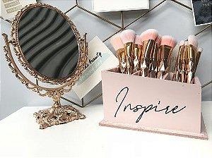 Porta Pincel MDF Inspire Rosa Blush