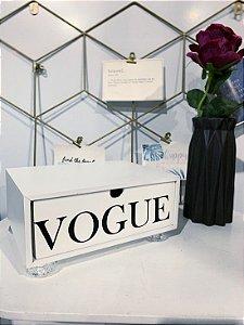 Gaveta Vogue Branca com pé de Acrílico