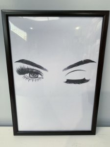 Quadro Olhar Feminino 3 Moldura Preta