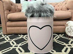 Mini Tonel Personalizado Rosa Blush Coração Vazado