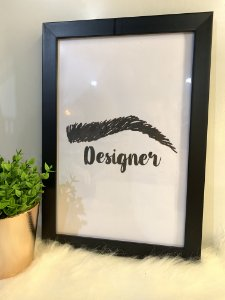 Quadro Designer sobrancelha Moldura Preta