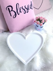 Bandeja Coração Branco