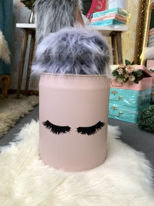 Mini Tonel Personalizado Rosa Blush Cilios Rímel