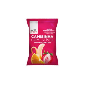 CAMISINHA COMESTIVEL SOFT LOVE CHICLETE.