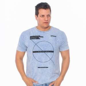 Camiseta Masculina Hiatto Marmorizada Outside Manga Curta