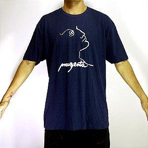 Camiseta Magenta Skateboards Azul Escuro