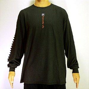 Camiseta Primitive Manga Longa Samurai Preta XL