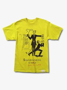 SKATE CRIME TEE - YELLOW - TAM. G