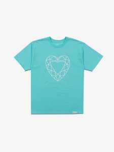 HEART CUT TEE - DIAMOND BLUE - TAM. G