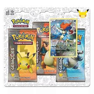Blister Triplo Pokemon Míticos - Keldeo