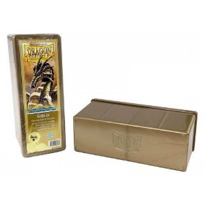 Dragon Shield Four Compartment Box - Gold