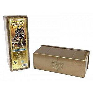 Dragon Shield Four Compartment Box - Gold