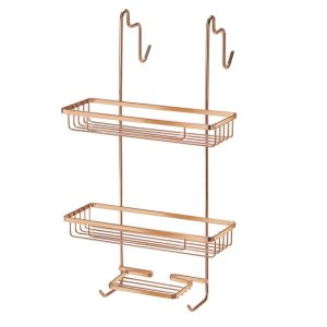 Porta Shampoo Toalhas Suporte Duplo Rose Gold Pendurar Box