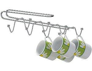 suporte para pendurar xícara no armário encaixe e use
