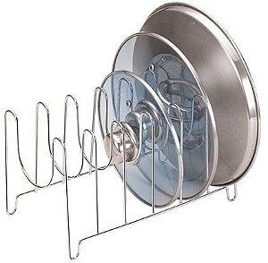 Organizador suporte para tampas de panela