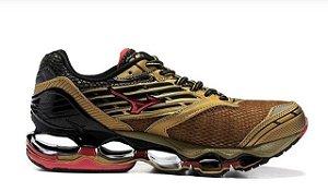 [Só Hoje] Tênis Mizuno Wave Prophecy 5 - Golden Runners - Dourado