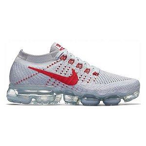 Tênis Nike Air Max Vapormax Flyknit - Cinza e Vermelho