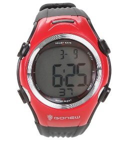 Monitor Cardíaco Gonew Speed - Preto e Vermelho