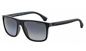 Óculos Empório Armani - 0EA4033 Modern - Black/Gray Rubber 5229T3/56