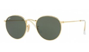 Óculos Ray-Ban - 0RB3447L Round Metal - Polished Gold 001/50