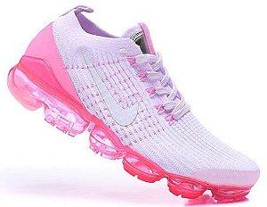 Tênis Nike Air VaporMax 3 - Rosa e Branco