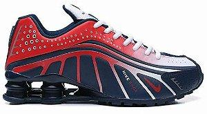 Nike Shox R4 - Azul e Vermelho