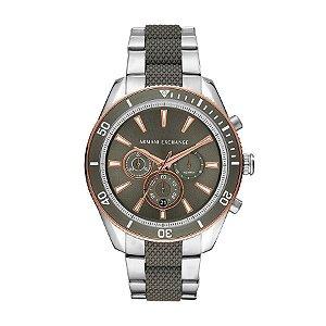 Relógio Armani Exchange Enzo Cronógrafo - Masculino - AX18301KN - Prata e Bronze