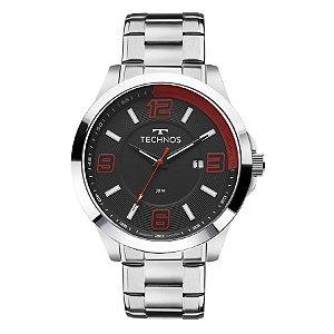 Relógio Technos - Masculino - 2115KLM1R  - Prata