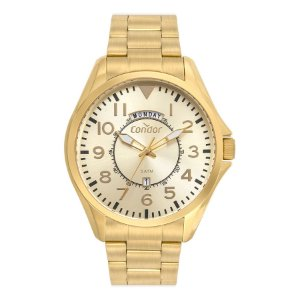 Relógio Masculino - Condor - COVJ45AA4D - Dourado
