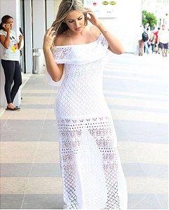Vestido em tricot baphonico