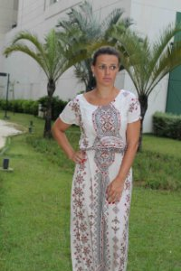 Vestido longo com estampa indian gree