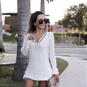 Blusa em tricot maravilhosa