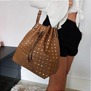 Bolsa saquinho com tachinhas