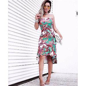 Vestido midi floral deusa