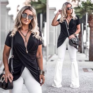 Blusa transpassada black