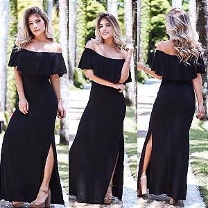 Vestido em viscolycra ciganinha black