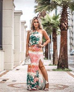 Vestido estampa floral a cara do verão