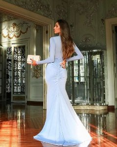 Vestido de festa Paris - Azul Pastel