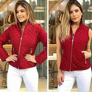 Jaqueta Nylon 2 em 1 - Vermelha