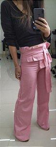 Calça pantalona musa de linho - Rosa barbie