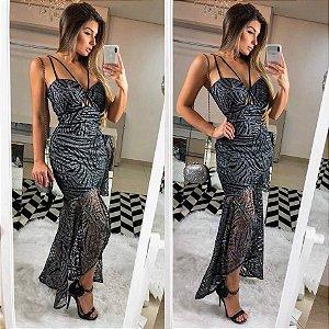 Vestido longo de festa Diamond