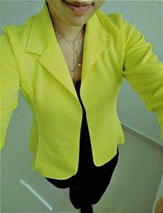 Blazer maravilhoso em neoprene - Amarelo neon
