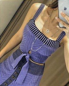 Conjunto Purple em tricot modal