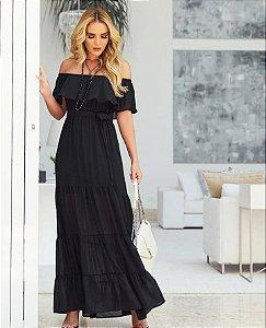 Vestido longo Laura - Preto