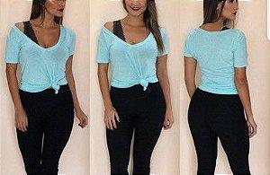 T-shirt podrinha - Azul pastel